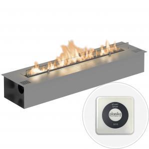 Автоматический биокамин Planika Fire Line Electronic L=990 steel
