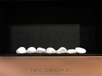 Галька мраморная белая крупная