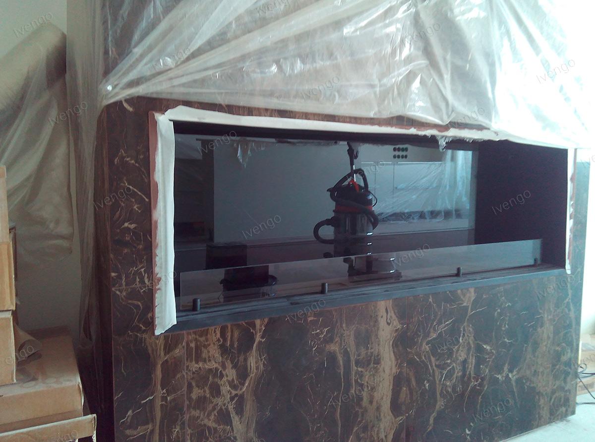 биокамин для квартиры в мраморе